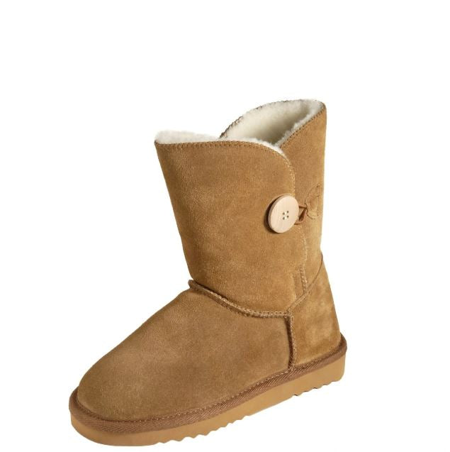 Walnut Button Boot