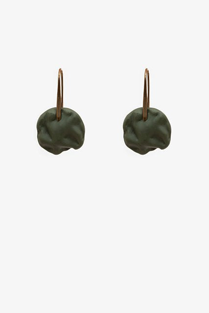 Textured Khaki Drop Earring