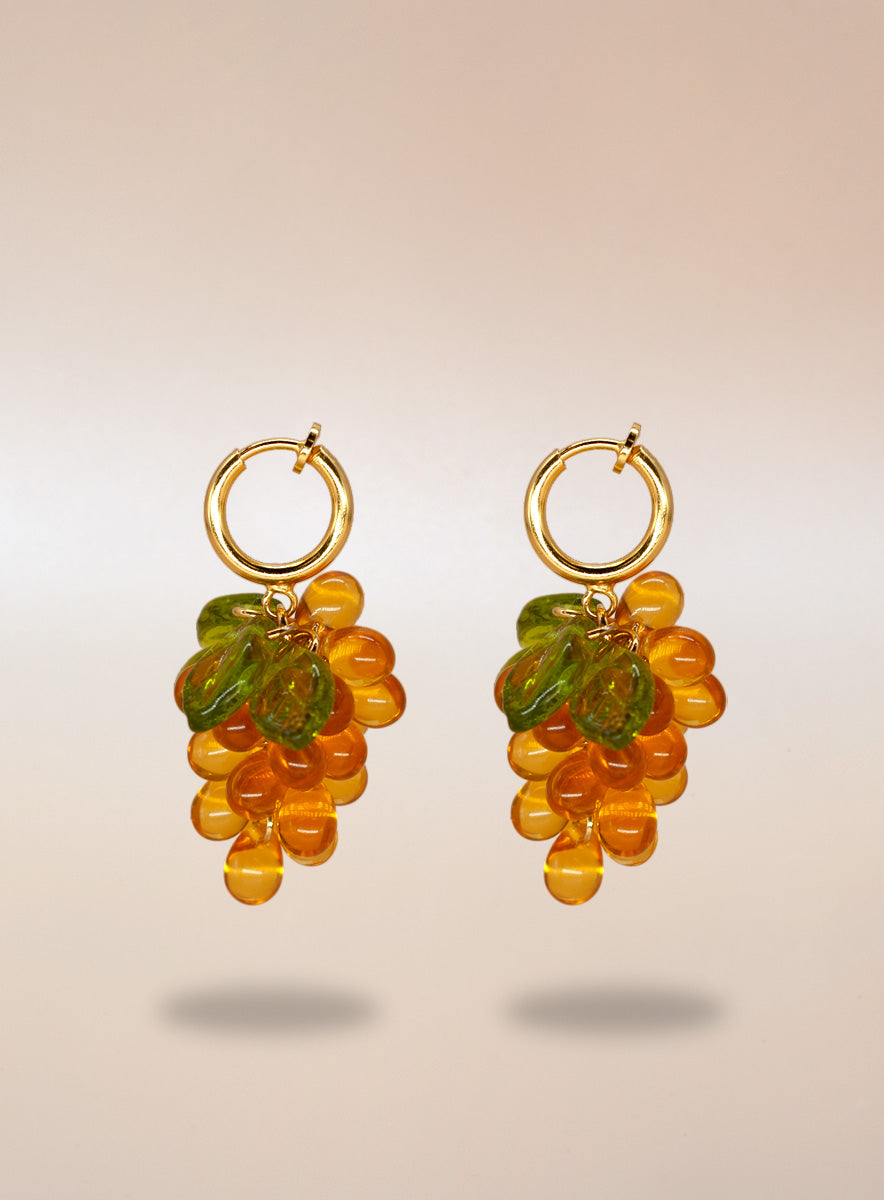 Apricot Jelly Clip-on Earrings