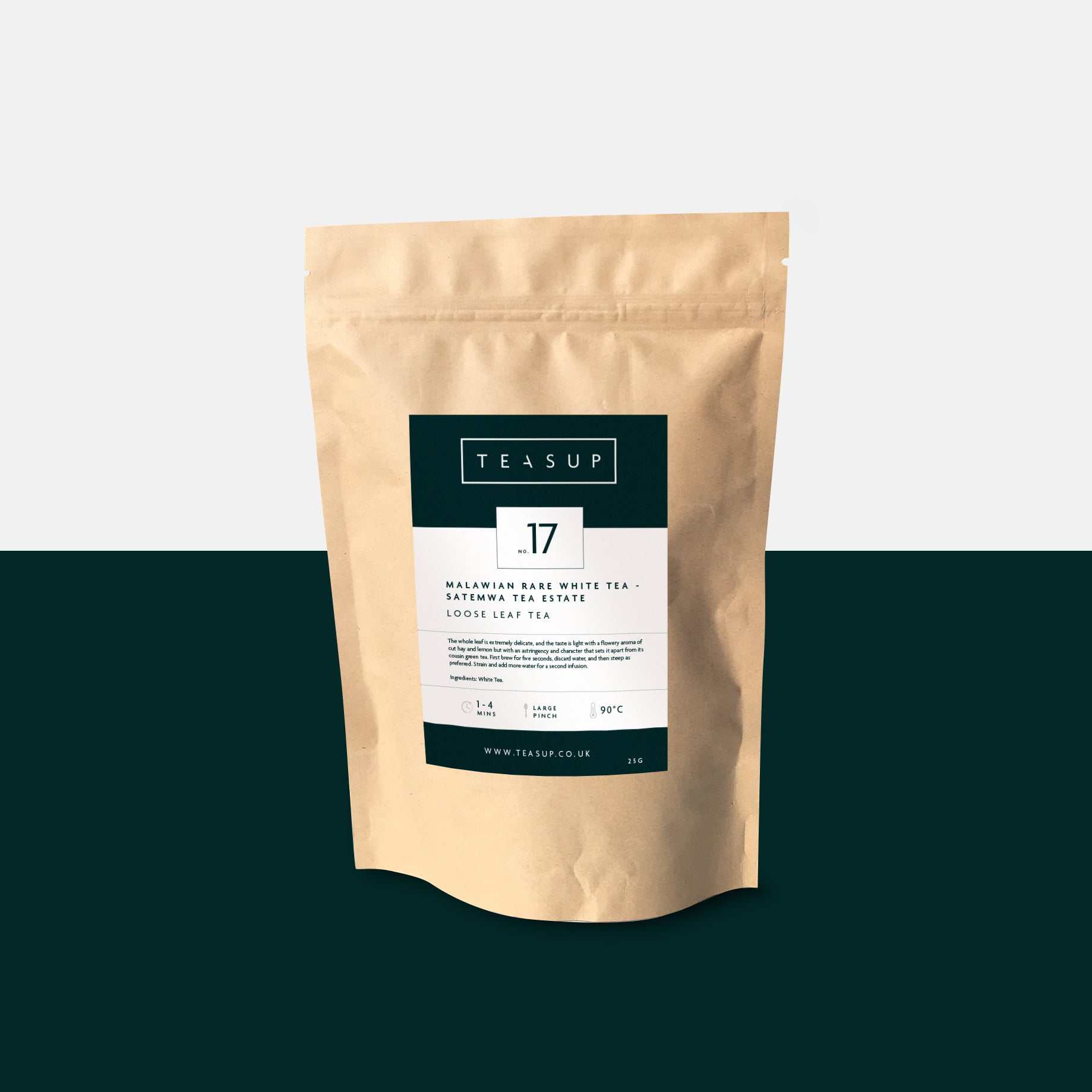 Teasup Malawian Satemwa Rare White Tea - Biodegradable Pouch