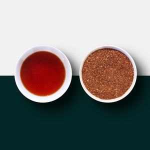 Rooibos tea loose leaf tea and liquid