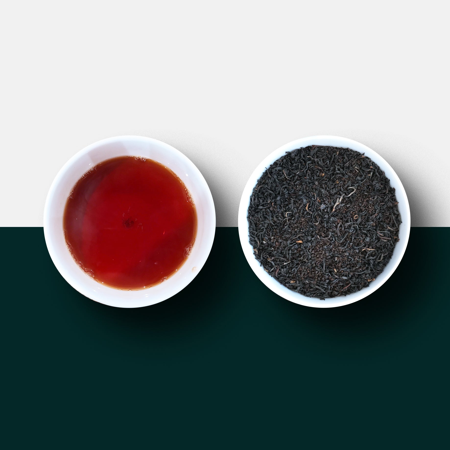 Black tea - the Brexit Blend loose leaf tea and liquor