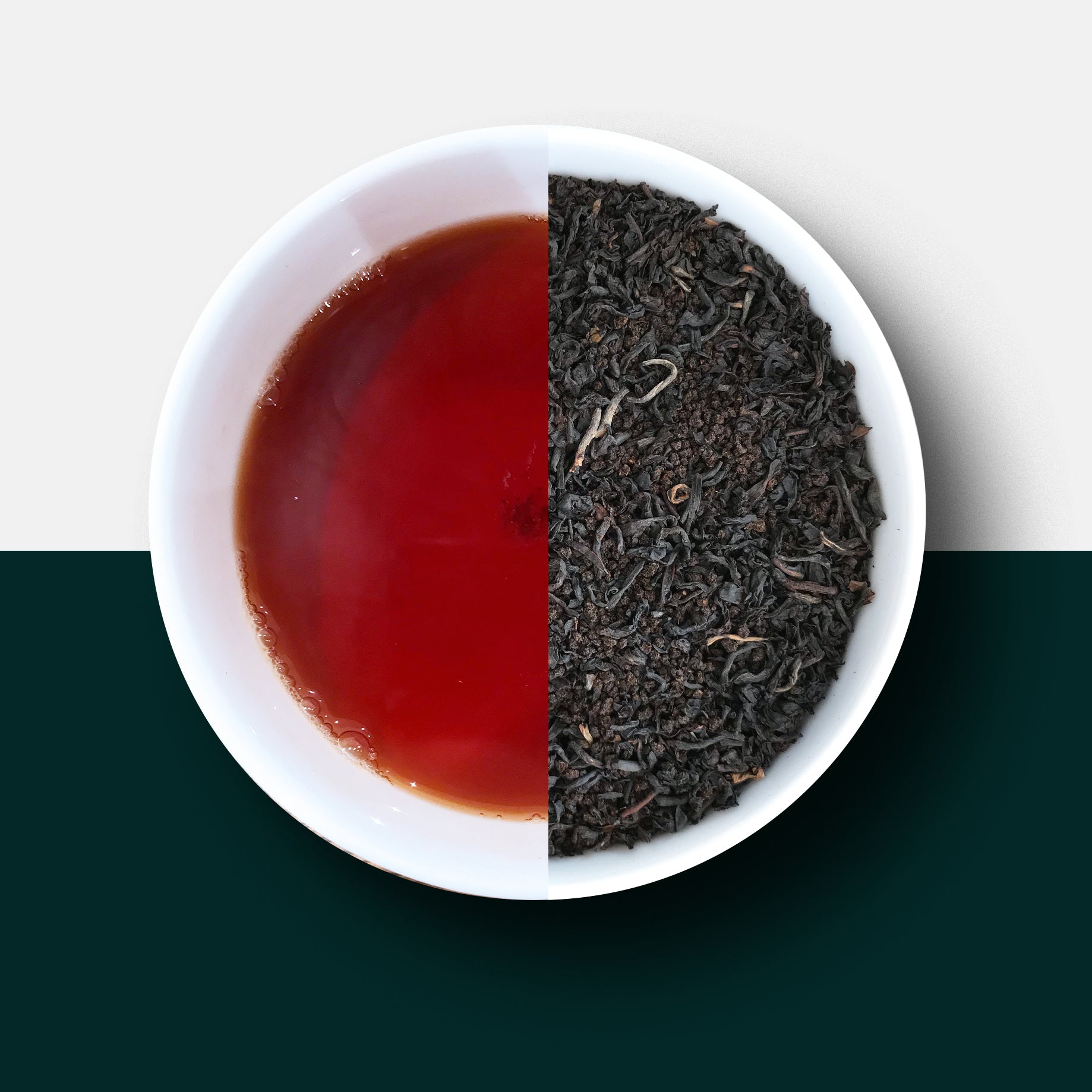 Black tea - Brexit Blend loose leaf tea and liquor