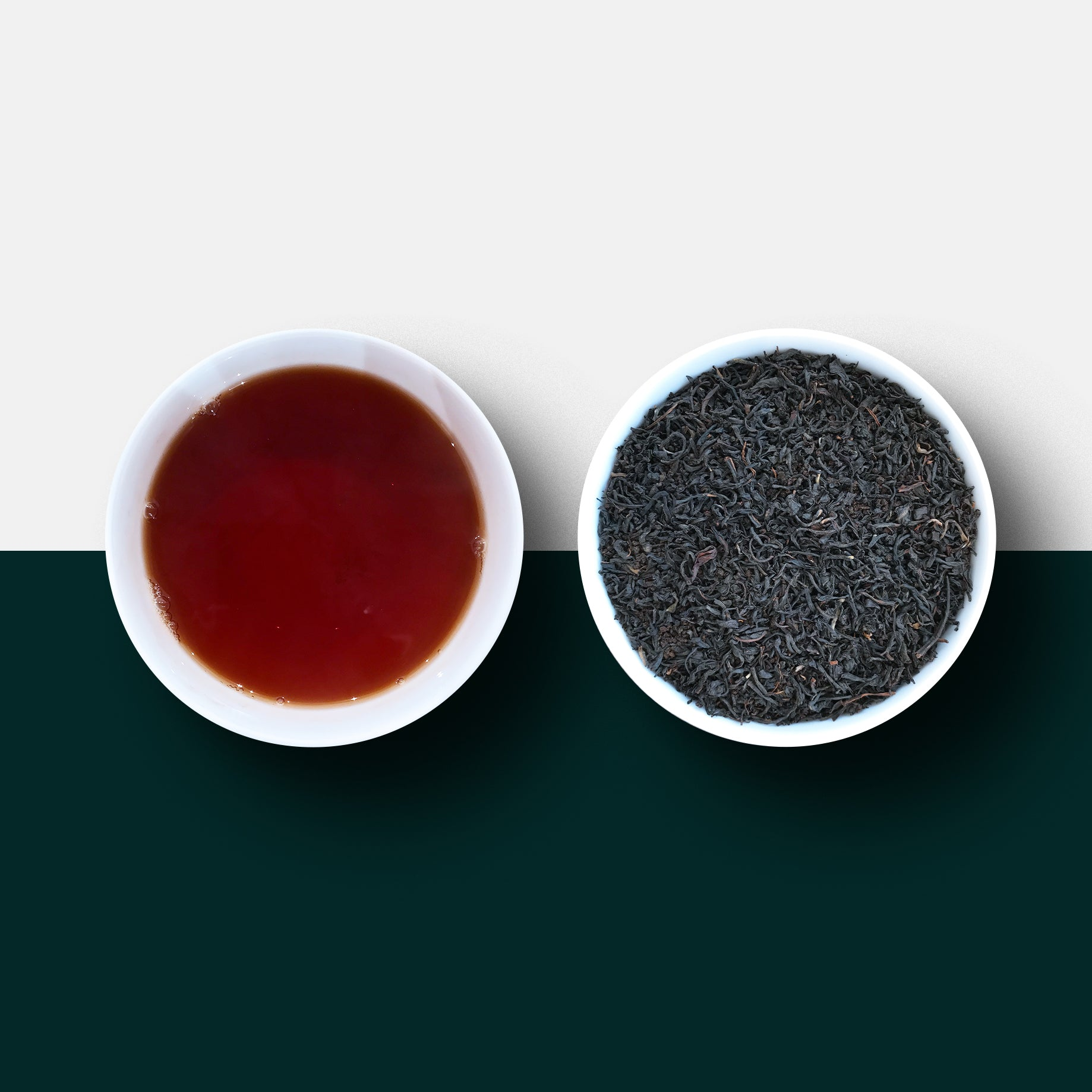 English breakfast tea loose leaf and liquid