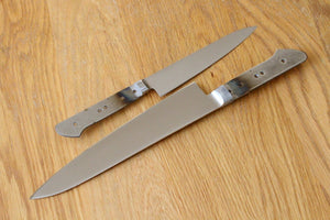 New arrival of Ibuki AUS-8 steel Kitchen blank blades with bolster full tang