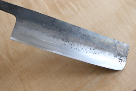 ibuki tanzo blank blade forged blue #1 steel Namiuchi Nakiri knife 165mm