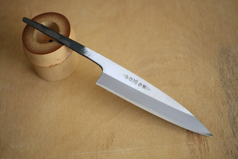 Kosuke Muneishi Hand forged blank blade Blue #2 steel Polished Petty knife 120mm