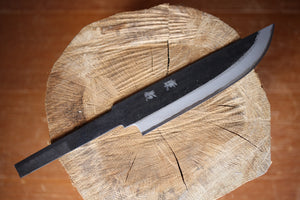 Hand forged knife blank blade