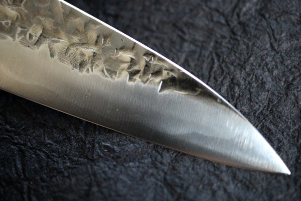 Kisuke Manaka Hand forged ATS-34 clad stainless hammered polish Petty knife blank 150mm