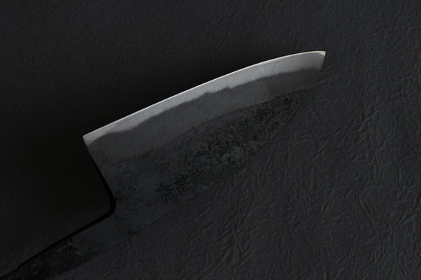 Daisuke blank blade Custom knife Making hand forged white 1 steel Kurouchi Santoku 110mm