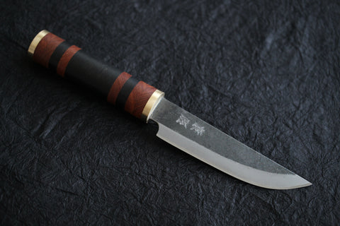 Kosuke Muneishi Hand forged Blue #2 steel yosegi Custom Hunting knife 110mm