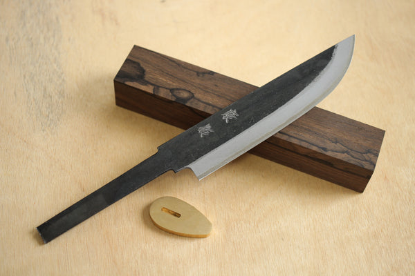 ibuki Fixed blade Custom knife making kit Hand forged Blue #2 steel 140mm Ziricote