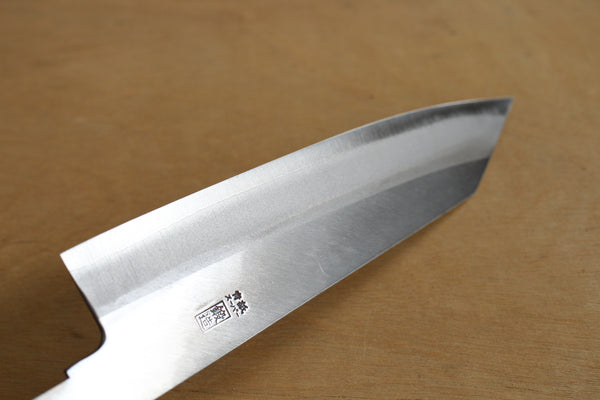 ibuki Aogami super blue steel hand forged Kiritsuke Gyuto knife blank blade 185mm