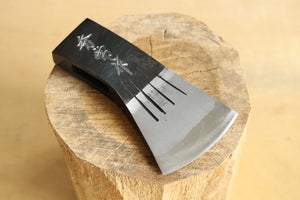 Japanese Hatchet knife blank Axe Hidetsune hand forged white #2 steel Kimaono 750
