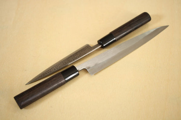 Japanese traditional D shape fired chestnut wooden handle blank 124mm