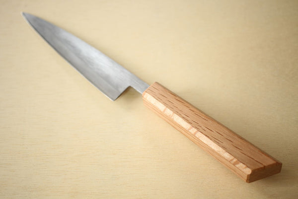Japanese quercus oak octagon wooden knife wa handle blank askew cutting 125mm