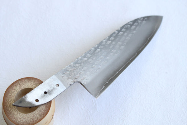 Ibuki hammered VG-10 blank blade Santoku Custom knife Making kit 165mm with pin