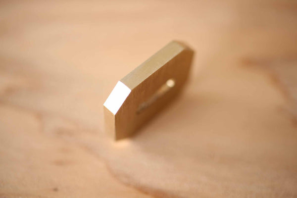 Ibuki octagon chef knife guard Brass Bolster making tool thickness 3 mm wide