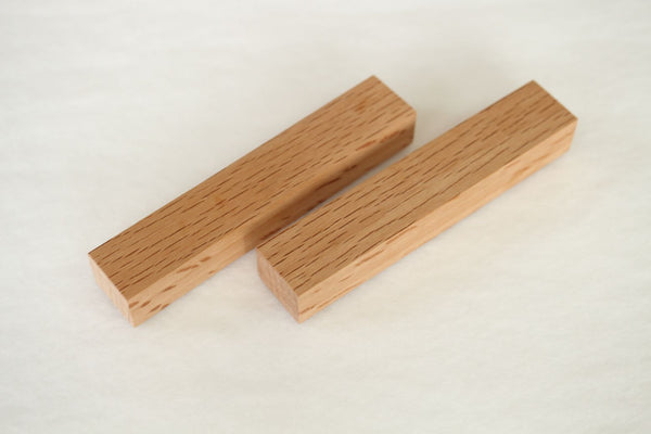wooden knife handle blank custom knife making Japanese quercus oak 130 x 25 x 19 mm set of 2