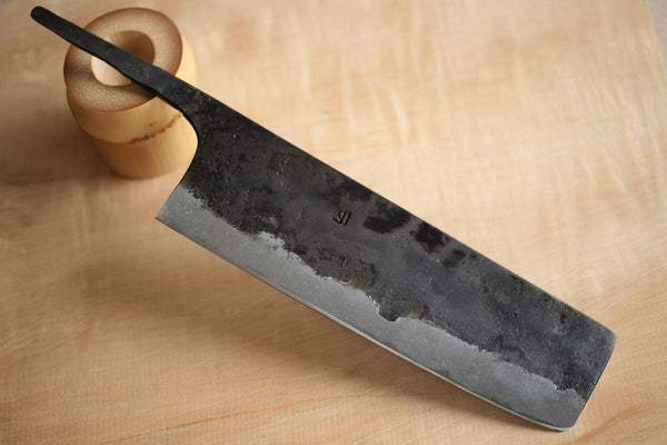 Kanema Kurouchi blank blade Kisuke Yellow #3 steel Hand forged thin Nakiri knife 170mm