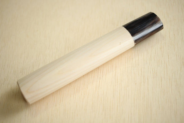 Japanese Magnolia traditional D shape wooden handle blank marble tone making tool 132mm