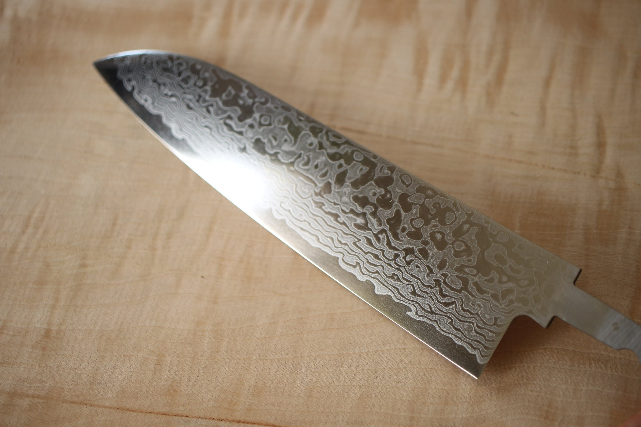 ibuki za18 cobalt nickel Damascus blank blade Polish Santoku knife 185mm