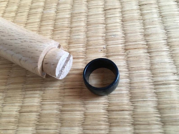 Japanese Quercus myrsinifolia wooden handle blank custom knife making tool 150mm