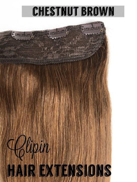 "One Piece Clip In Hair Extensions | Human Hair | 24"" Length 