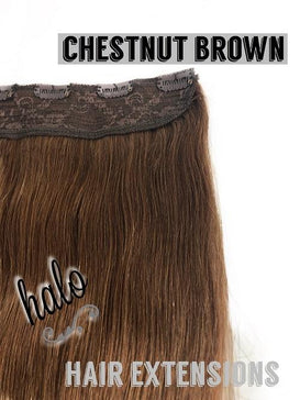 "Halo/Clip In Hair Extensions | Human Hair | 24"" Length 