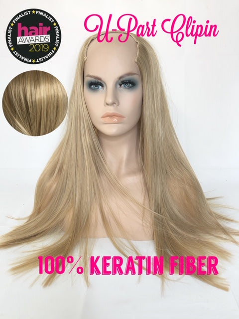 "U Part Clip In Hair Extensions | Silky Straight | Sand Vanilla  | 24"" Length 