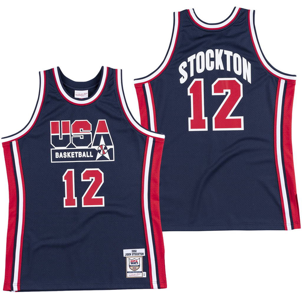 JOHN STOCKTON #12 1992 TEAM USA JERSEY