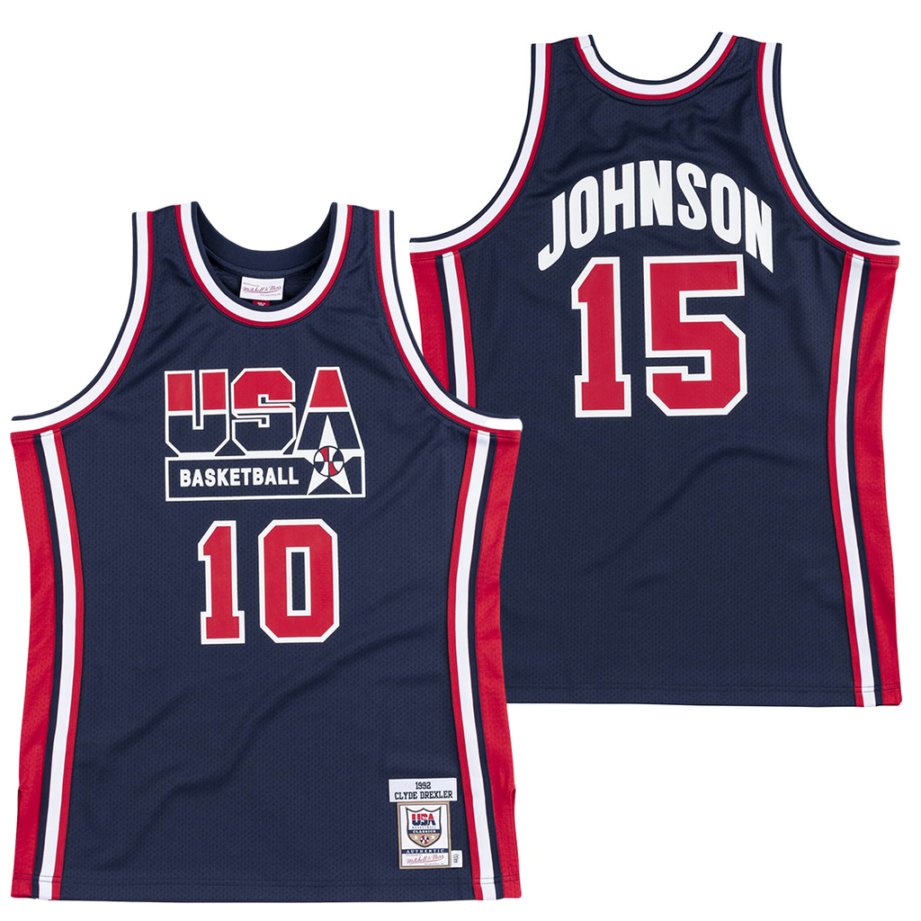 MAGIC JOHNSON #15 1992 TEAM USA JERSEY