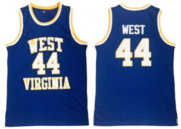 JERRY WEST #44 WEST VIRGINIA NCAA JERSEY