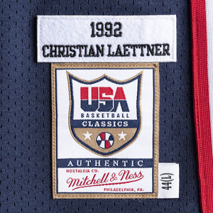 CHRISTIAN LAETTNER #4 1992 TEAM USA JERSEY