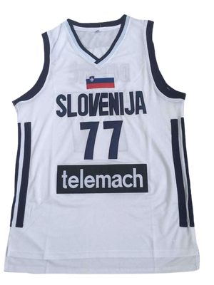 LUKA DONCIC #77 SLOVENIA EUROLEAGUE JERSEY