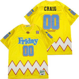 CRAIG JONES #00 FRIDAY MOVIE JERSEY