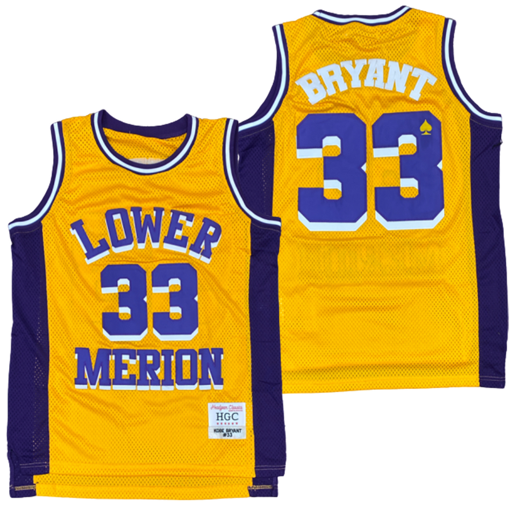 KOBE BRYANT #33 LOWER MERION X LAKERS JERSEY