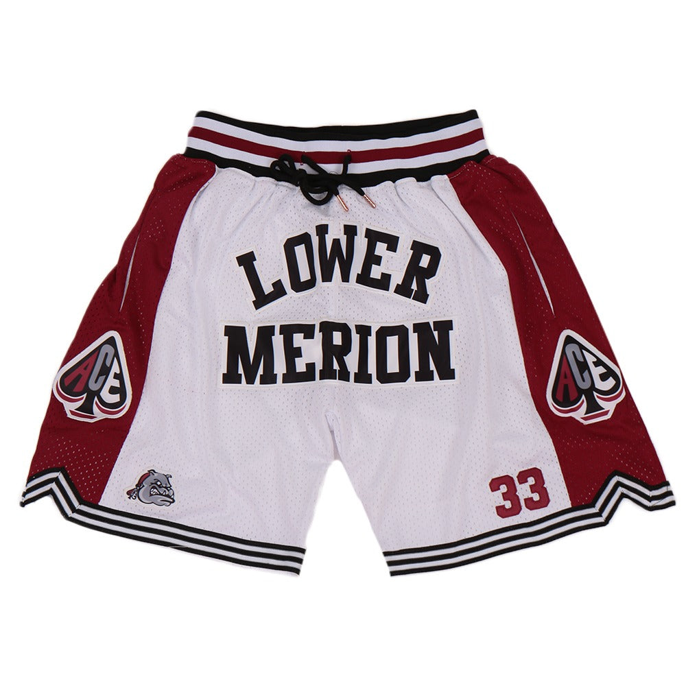 KOBE BRYANT #33 LOWER MERION SHORTS