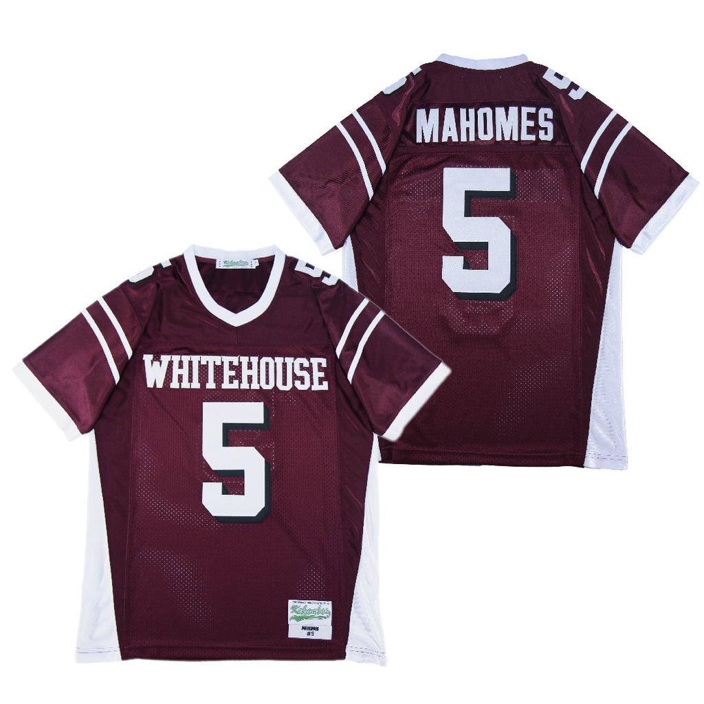 PATRICK MAHOMES #5 WHITEHOUSE TROJANS HIGH SCHOOL JERSEY