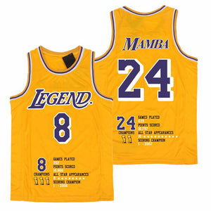 "KOBE BRYANT #24/#8 LOS ANGELES LAKERS ""LEGEND"" JERSEY"