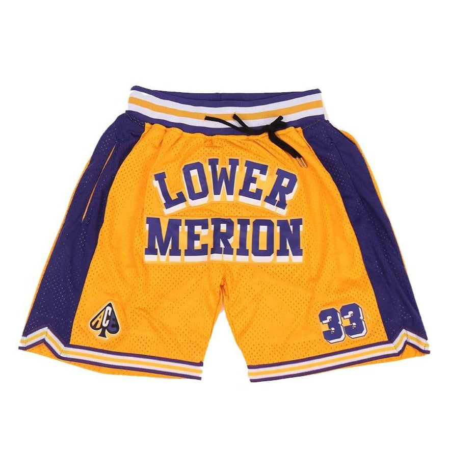 KOBE BRYANT #33 LOWER MERION X LAKERS SHORTS