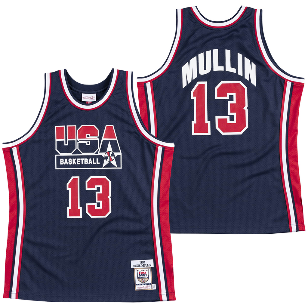 CHRIS MULLIN #13 1992 TEAM USA JERSEY