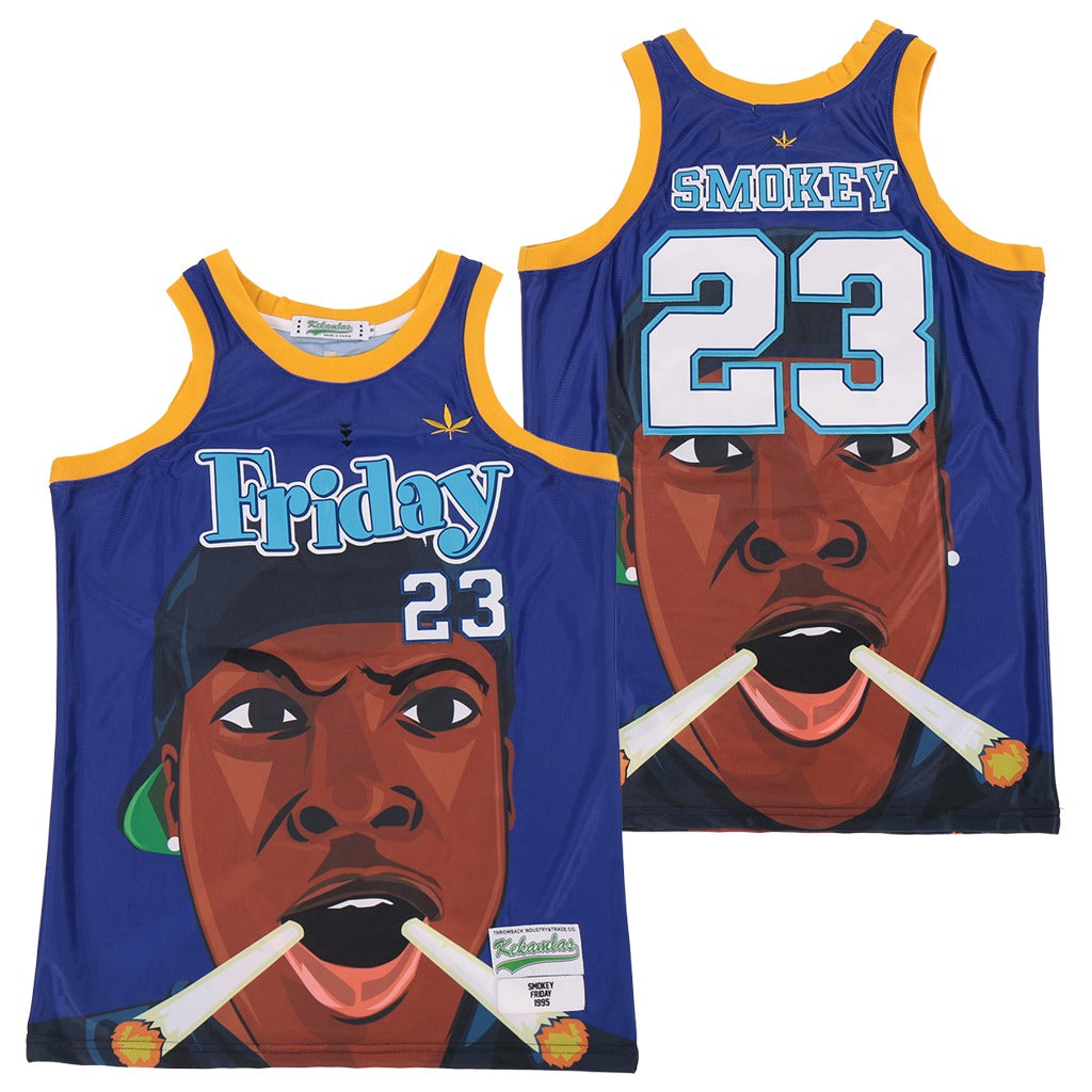 "BRONNY JAMES #23 ""STAY LIT"" SMOKEY JERSEY"