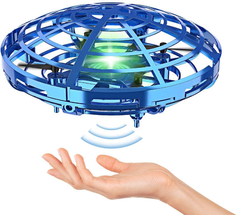 Image of BLUEKIEE™ Mini Helicopter UFO RC Drone Infraed Hand Sensing Aircraft Electronic Model Quadcopter flayaball Small drohne Toys For Children