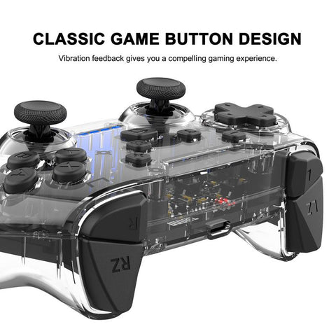 DIGITBLUE® Transparent Shake For N-Switch Pro NS-Switch Lite Gamepad Wireless Bluetooth Gamepad Game Joysticks Controller With 6Axis Handle