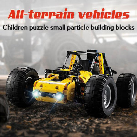 Image of BLUEKIEE™ RC All Terrain Trucks Car |  2.4Ghz City Technic Remote Control Racing Car | Building Blocks Bricks Toys | For Kids Gifts | 522pcs