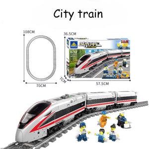 Original Battery-powered Electric Train | Track Train Children Assembled Building Blocks Toys | For Children's Gifts Present