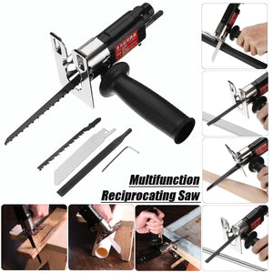 BLUEKIEE™ Multifunction Reciprocating Saw Attachment, Change Electric Drill into Reciprocating Saw Jig Metal File for Wood Metal Cutting