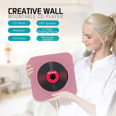 Image of Wall Mounted Bluetooth CD Player | USB Drive Player | Pull Switch Player | Remote CD Player | HiFi Speaker Player | Headphone Jack AUX input/output