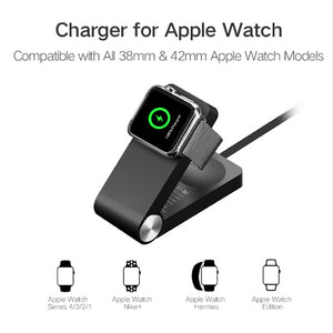 Wireless Apple Watch Charger | Foldable MFi Certified Charger | 1.2m Cable Charger | For Apple Watch Series 4/3/2/1